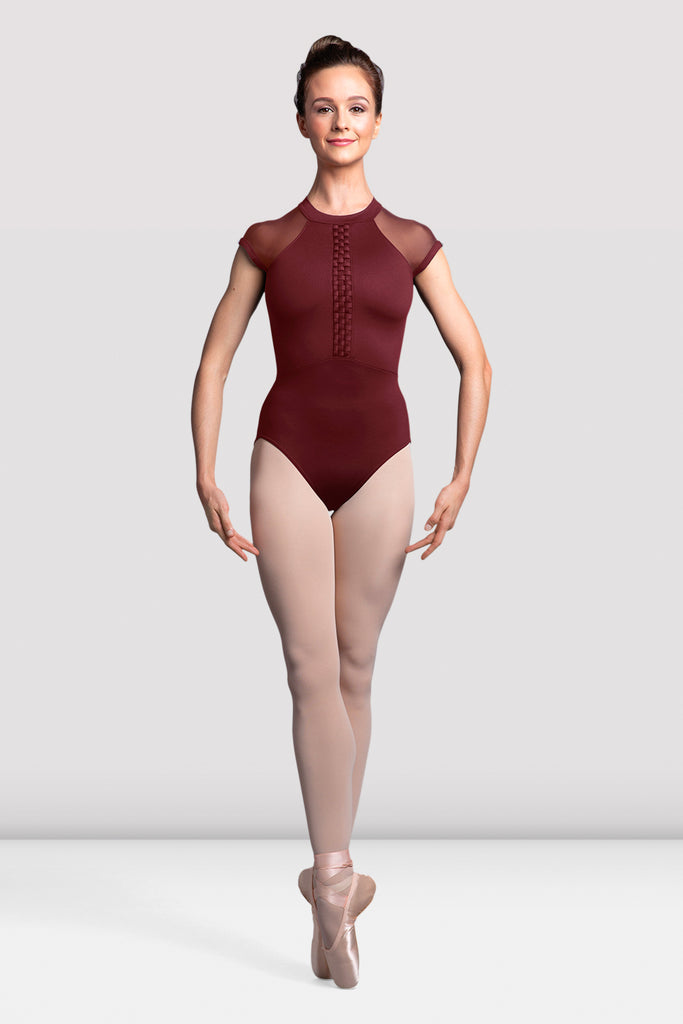 Ladies Empress Cap Sleeve Open Back Leotard