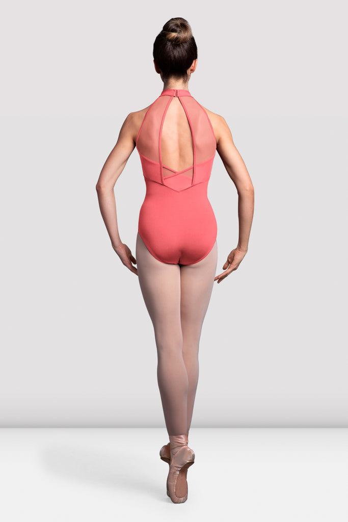 Ladies Sidonie Mesh Back Halter Neck Leotard