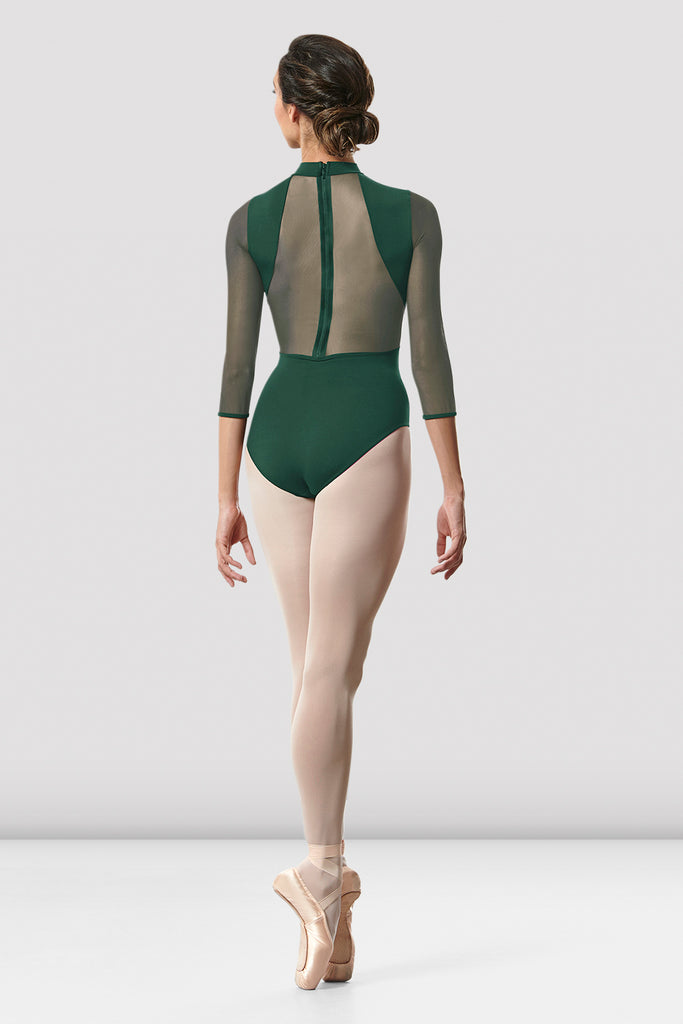 Ladies Ligia Mesh Back Long Sleeve Leotard