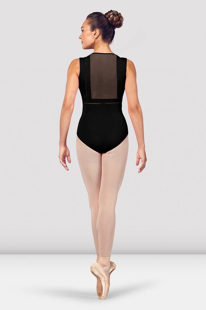 Ladies Zahra V Neckline Mesh Back Tank Leotard