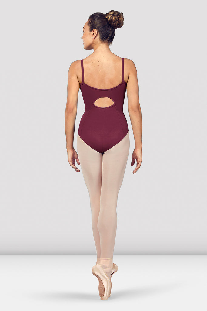 Ladies Vilette Zip Front Open Back Camisole Leotard
