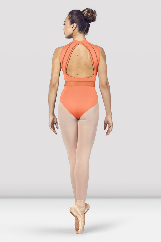 Ladies Solene High Neckline Open Back Tank Leotard