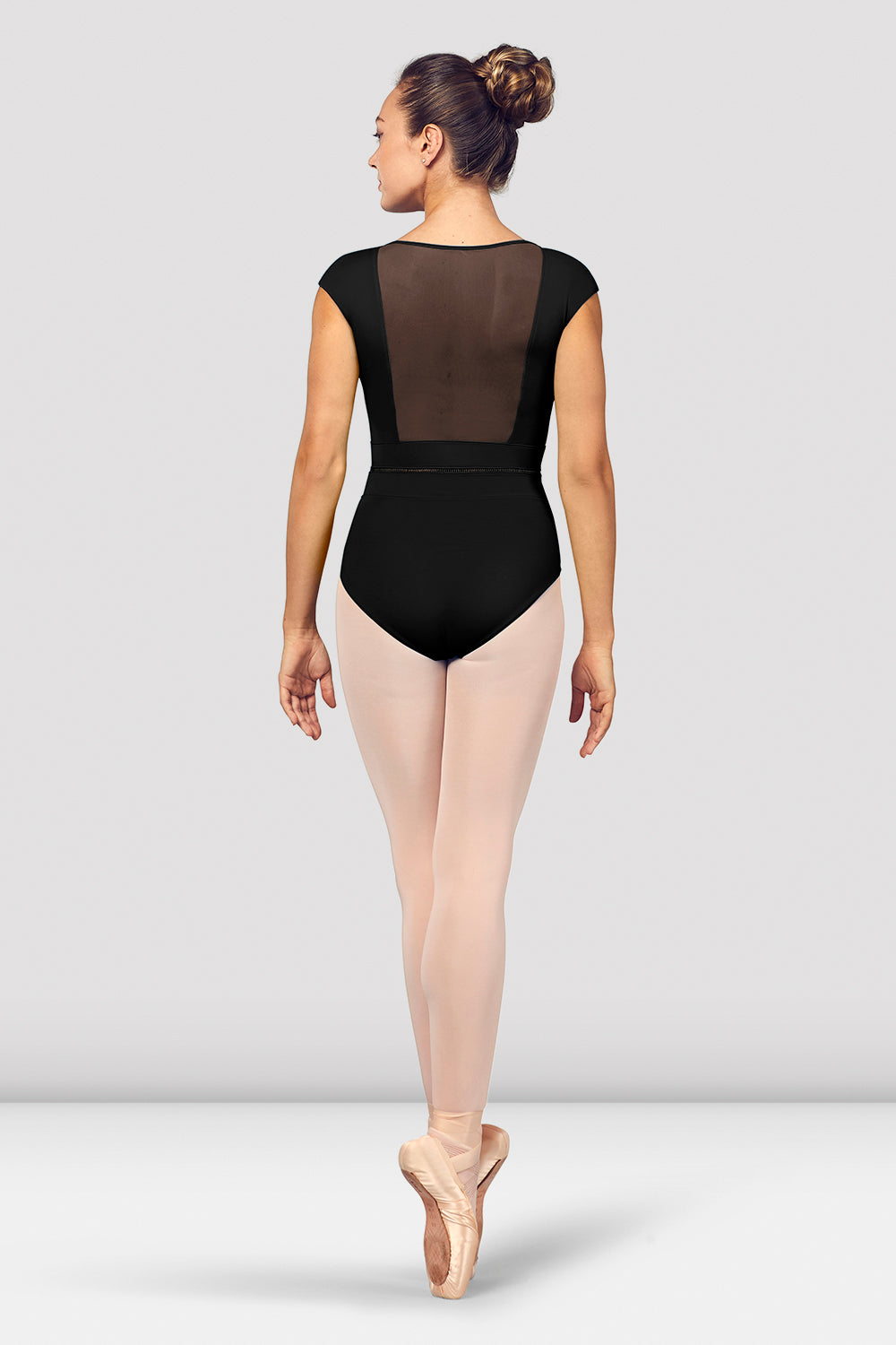 Ladies Kalila V Neckline Mesh Back Cap Sleeve Leotard