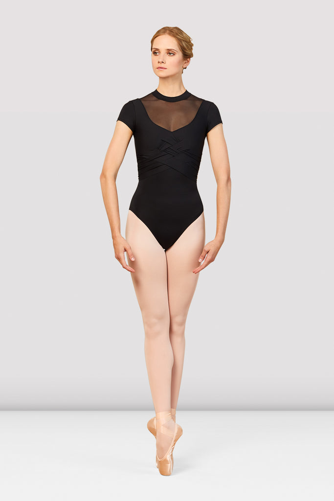 Ladies Boutique Woven Bodice Leotard