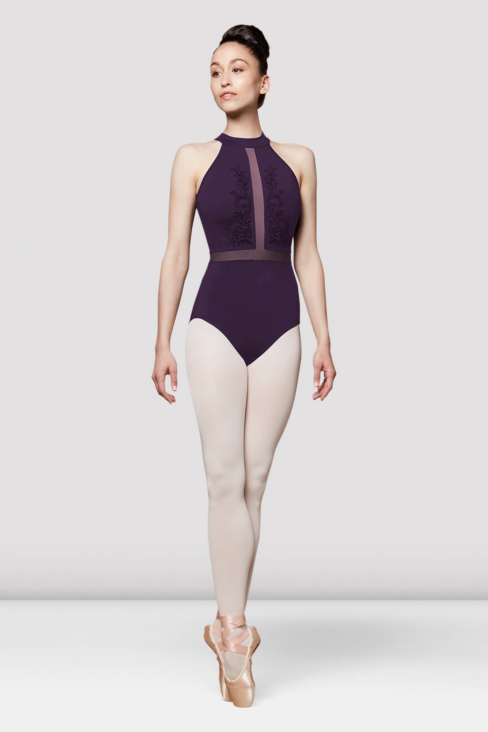 Ladies Vita Mesh Halterneck Leotard