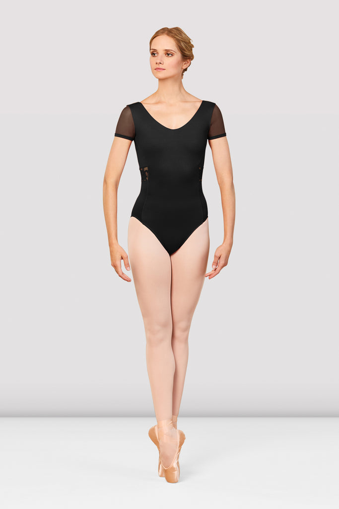 Ladies Boutique V-Neck Embroidered Leotard