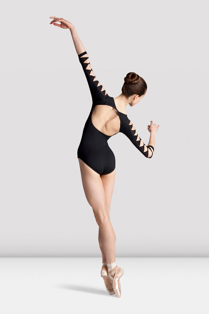 Ladies Sheer Macie Twist Detail Leotard