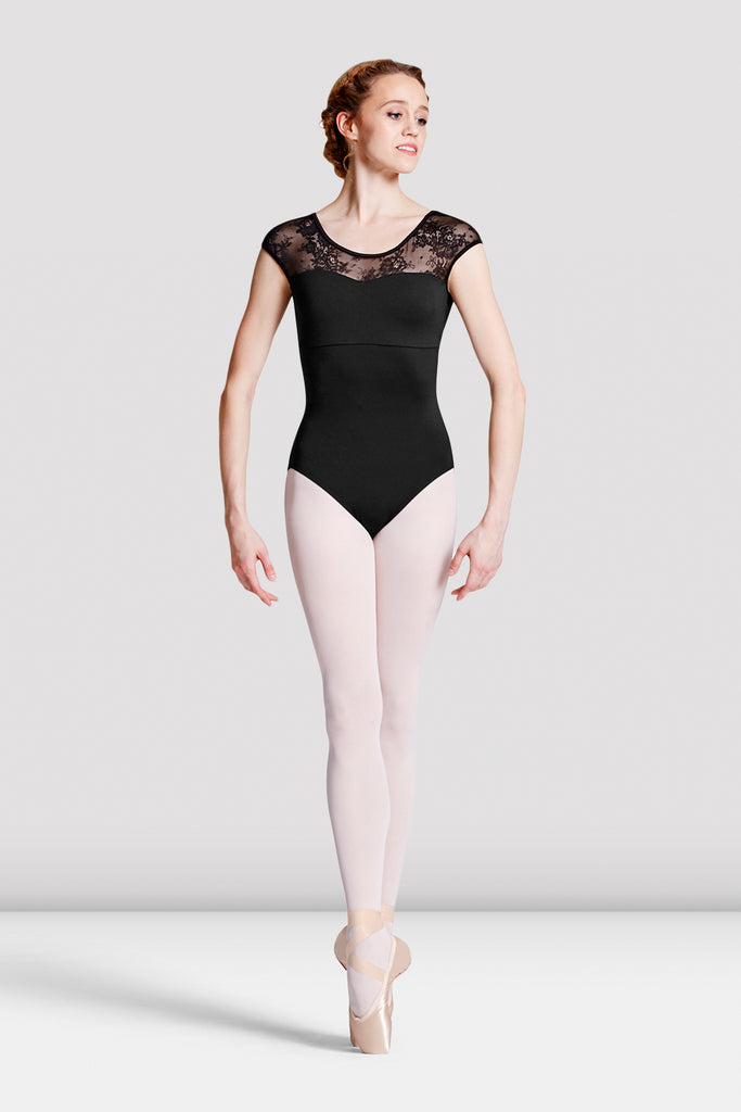 Ladies Hava Floral Lace Leotard