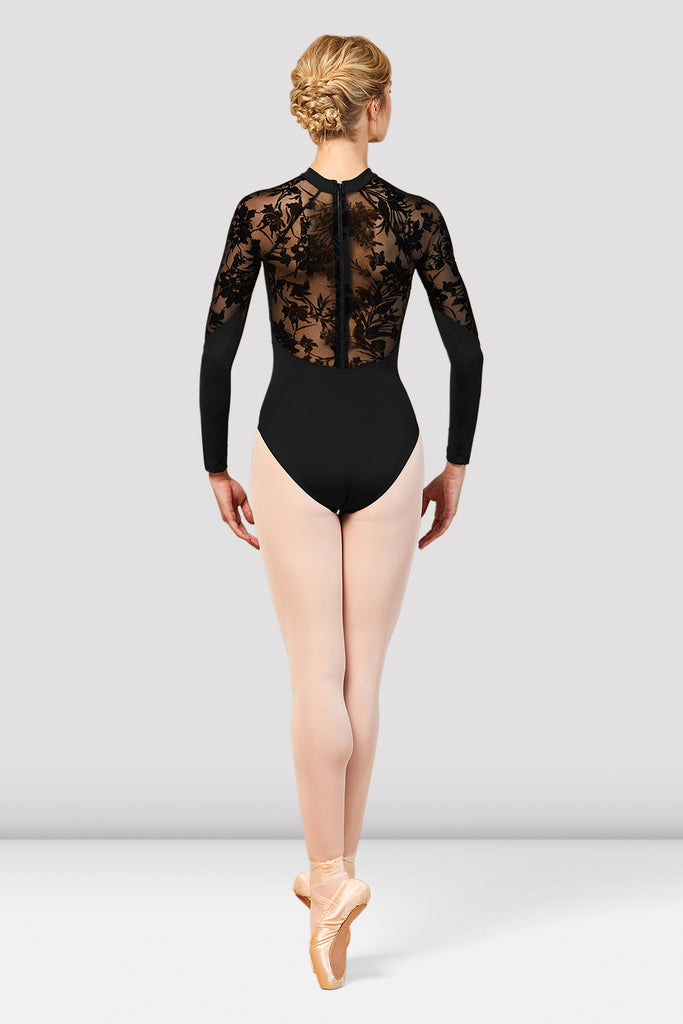 Ladies Kahlo Long Sleeve Mesh Back Leotard