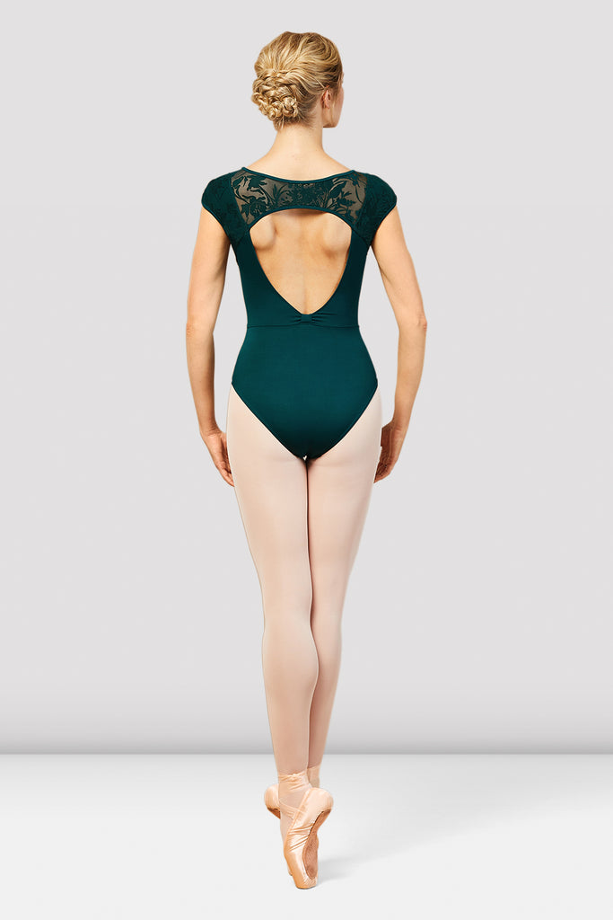 Ladies Cosmo Open Back Cap Sleeve Leotard