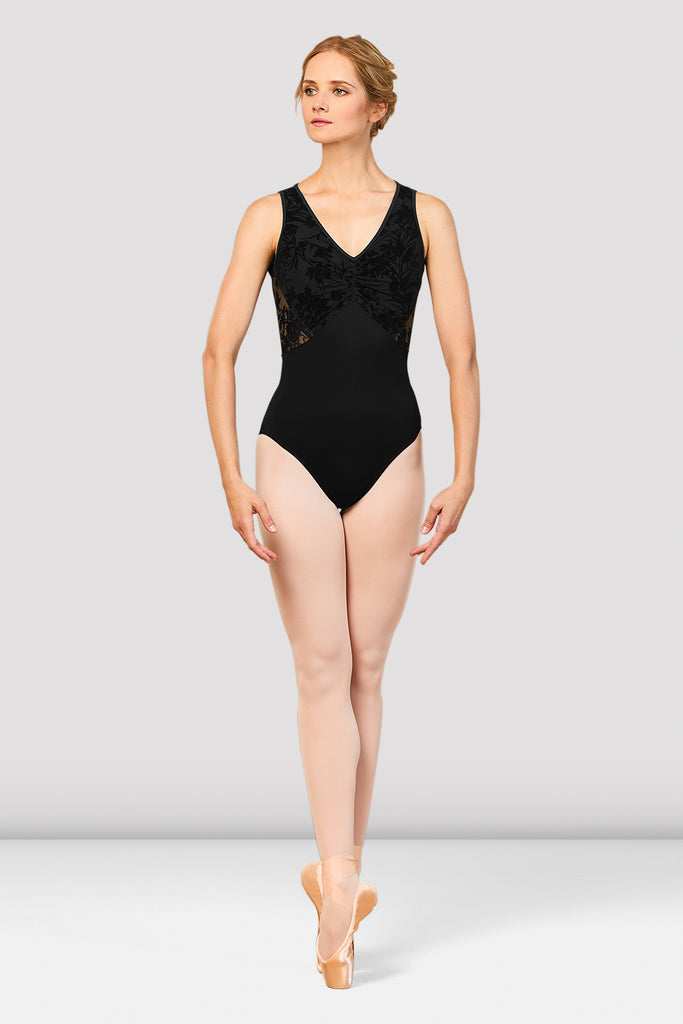 Ladies Cosima V Neckline Open Back Leotard