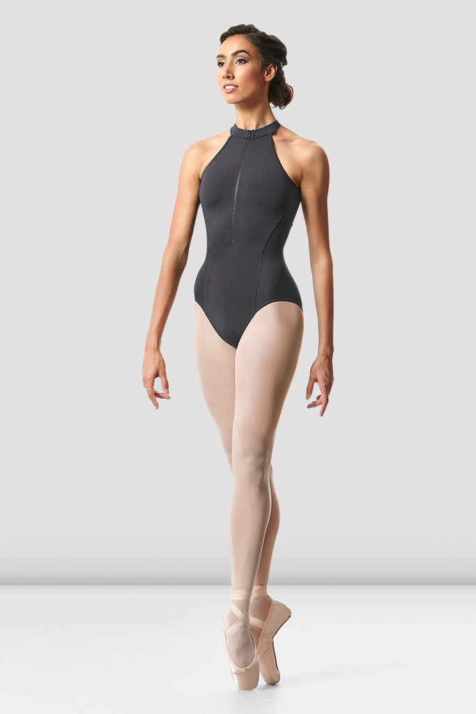 Ladies Rhode Zip Front Open Back Leotard