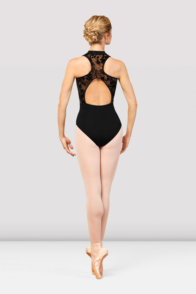 Ladies Boutique Burn Out Detail Leotard