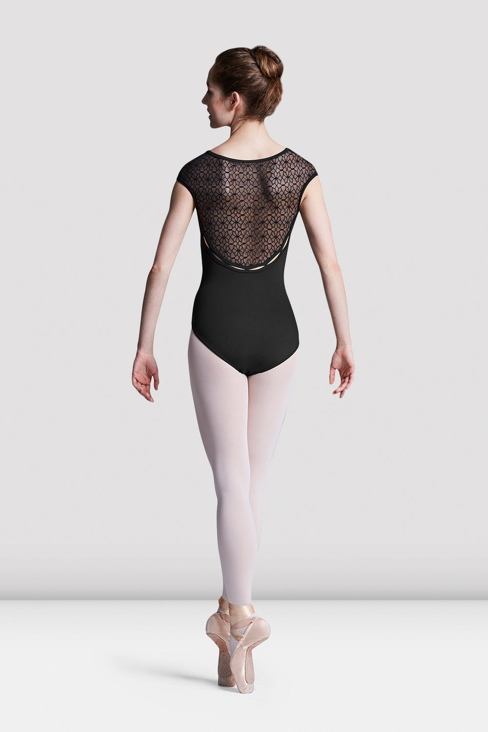 Ladies Edith Floral Mesh Back Leotard