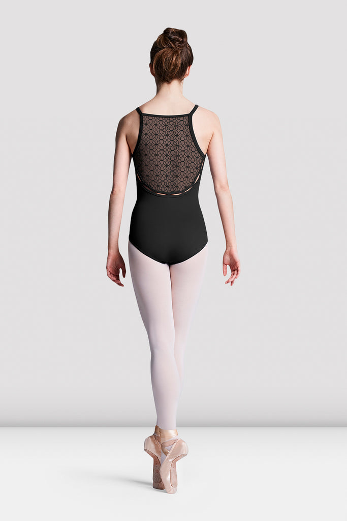 Ladies Dionne Floral Mesh Back Leotard