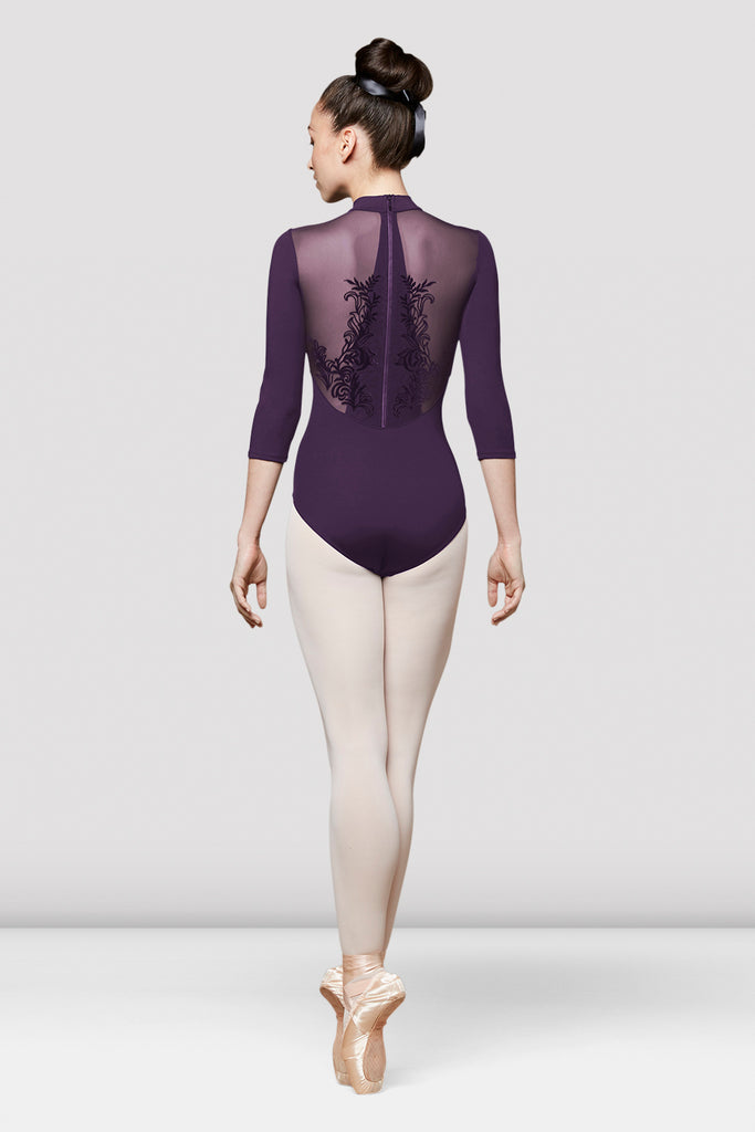 Ladies Faye Three Quarter Length Sleeve Leotard