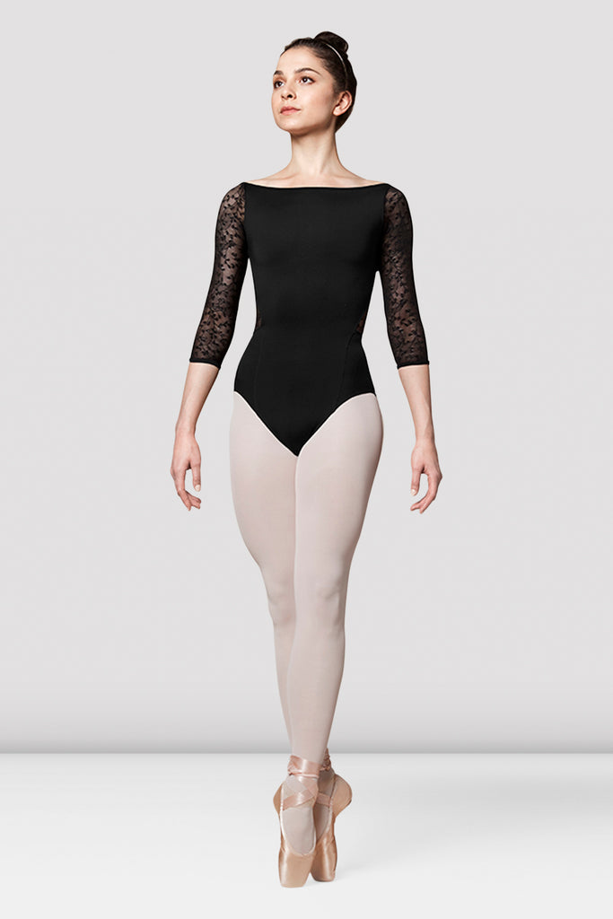 Ladies Mirella Olivinia Princess Lace Sleeve Leotard