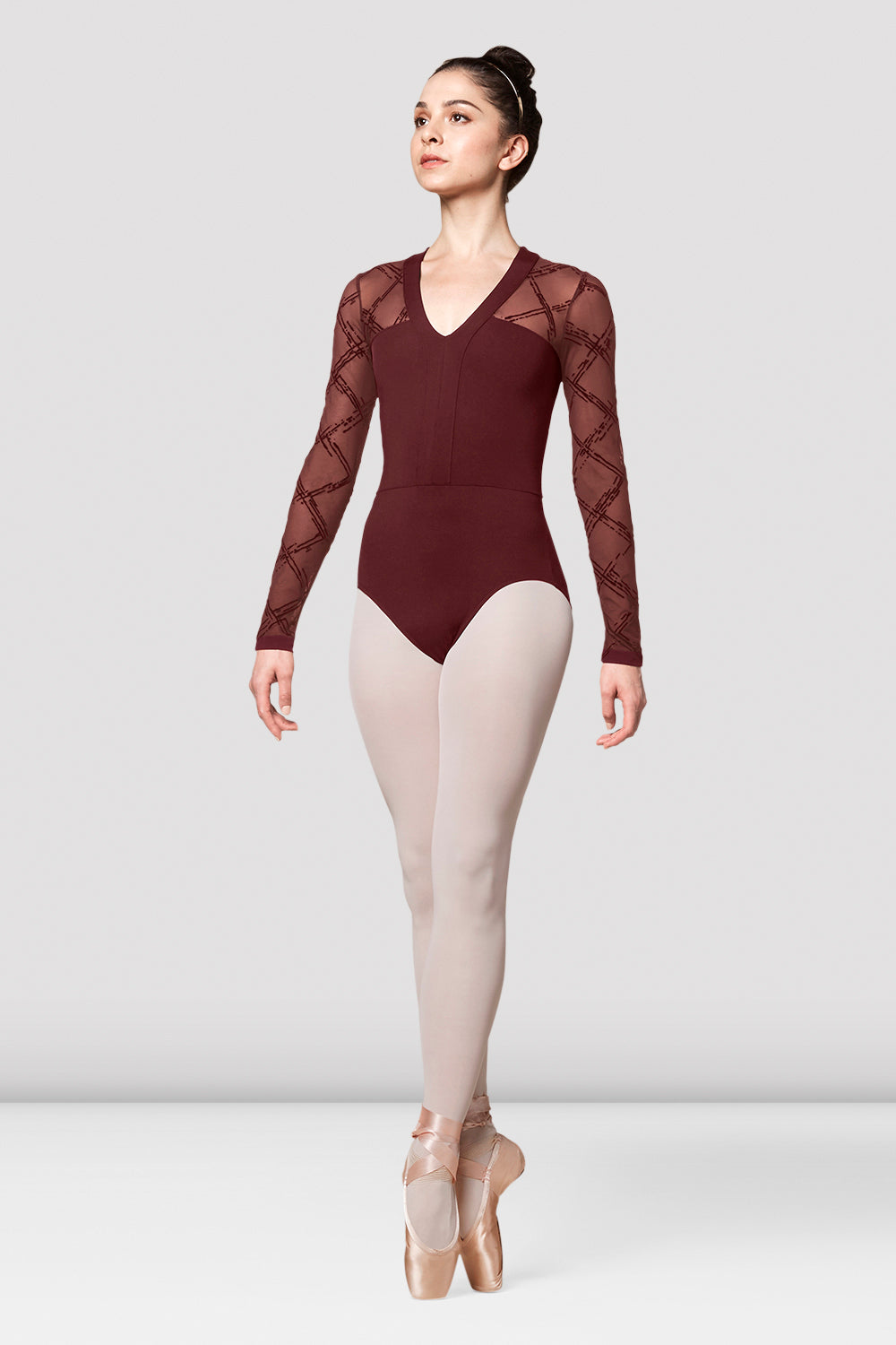Ladies Mirella Messina Mesh Long Sleeve Leotard