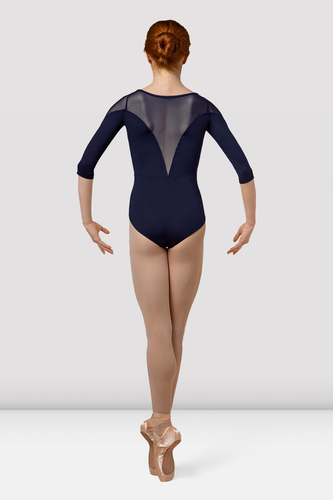 Ladies Mirella Splice Three Quarter Sleeve Leotard
