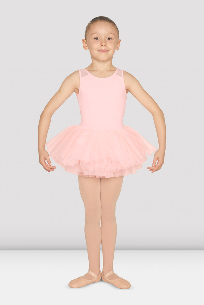 Girls Heart Flock Back Tank Tutu Leotard