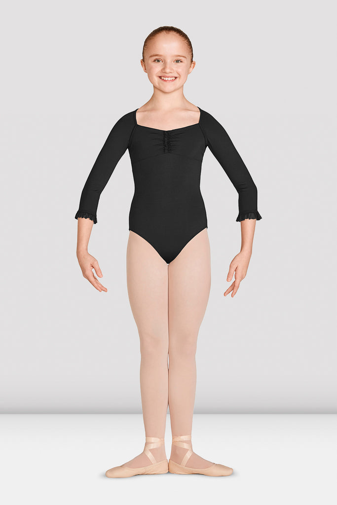 Girls Mirella Vienna Three Quarter Sleeve Leotard