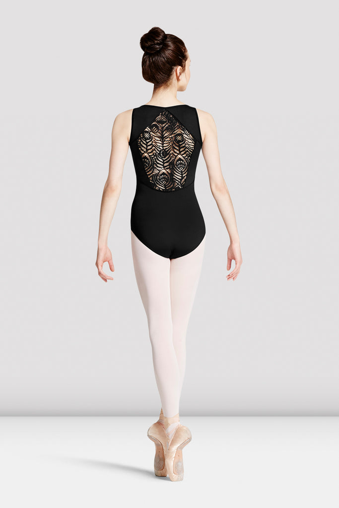 Ladies Mirella Peacock Lace Back Leotard