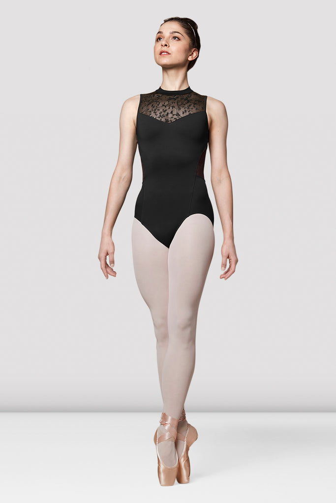Ladies Mirella Cut Out Lace Back Leotard