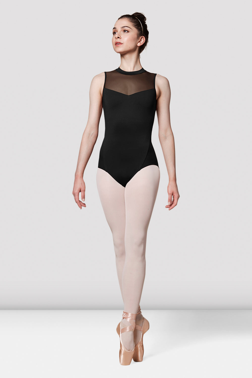 Ladies Mirella Messina Mesh Panel Leotard