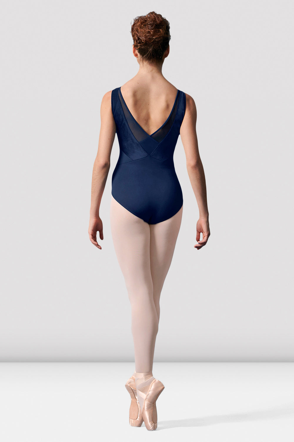 Ladies Mirella Mesh Panel V-back Leotard
