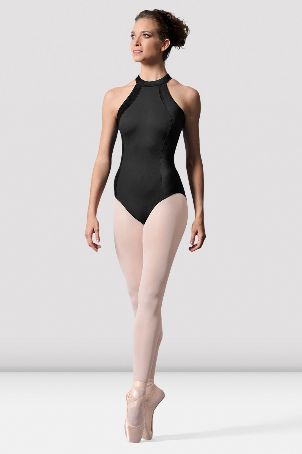 Ladies Mirella Velvet Halterneck Leotard