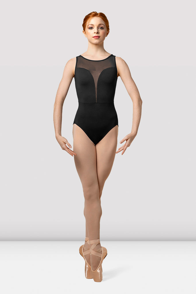 Ladies Mirella Splice Boat Neck Tank Leotard