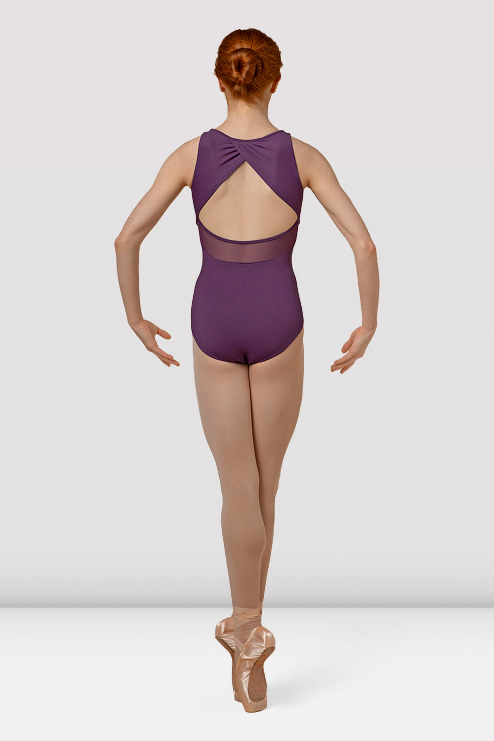 Ladies Mirella Splice Open Back Tank Leotard