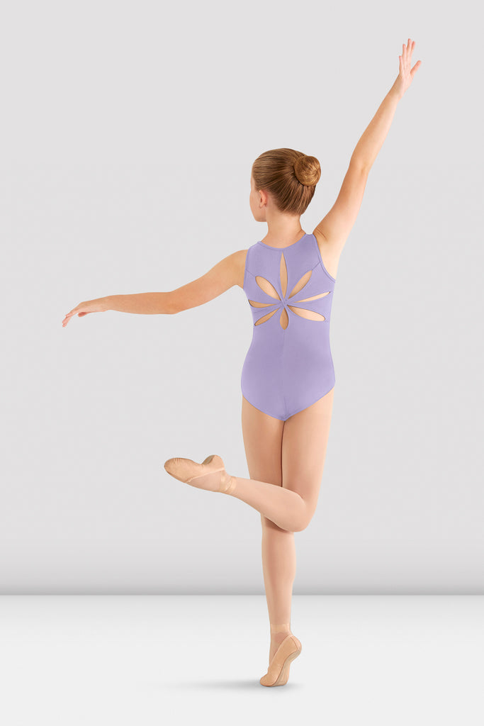 Girls Mirella Flower Back Leotard