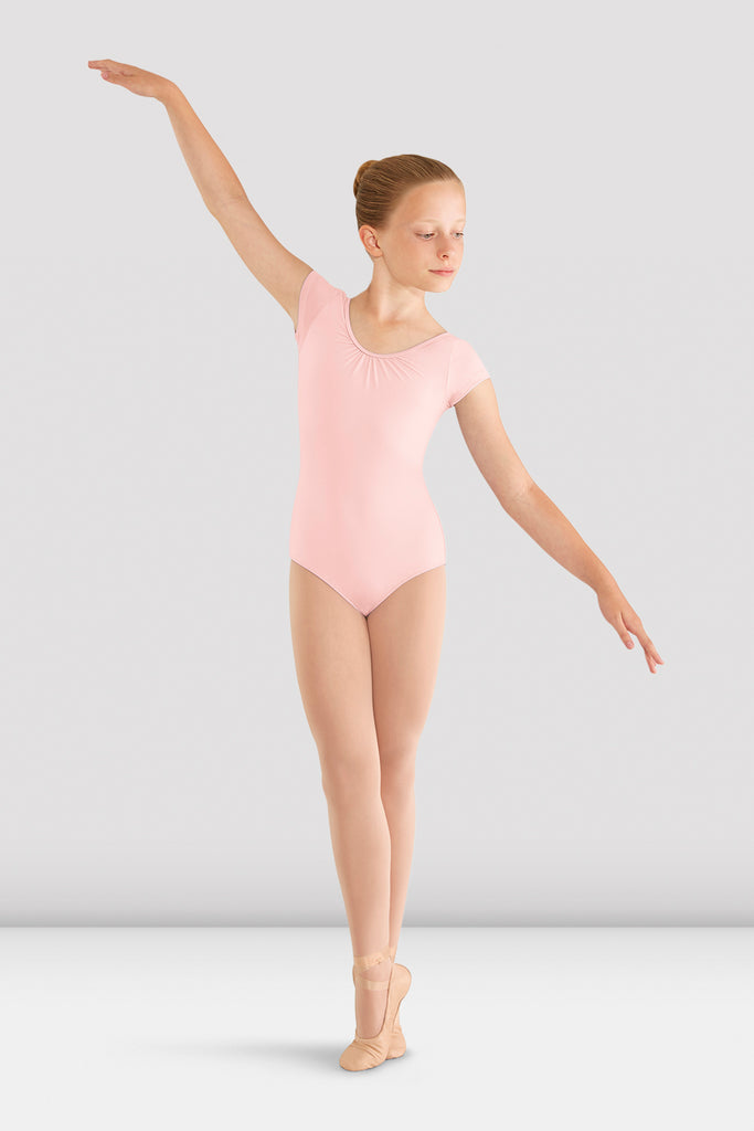Girls Mirella Bow Cap Sleeve Leotard