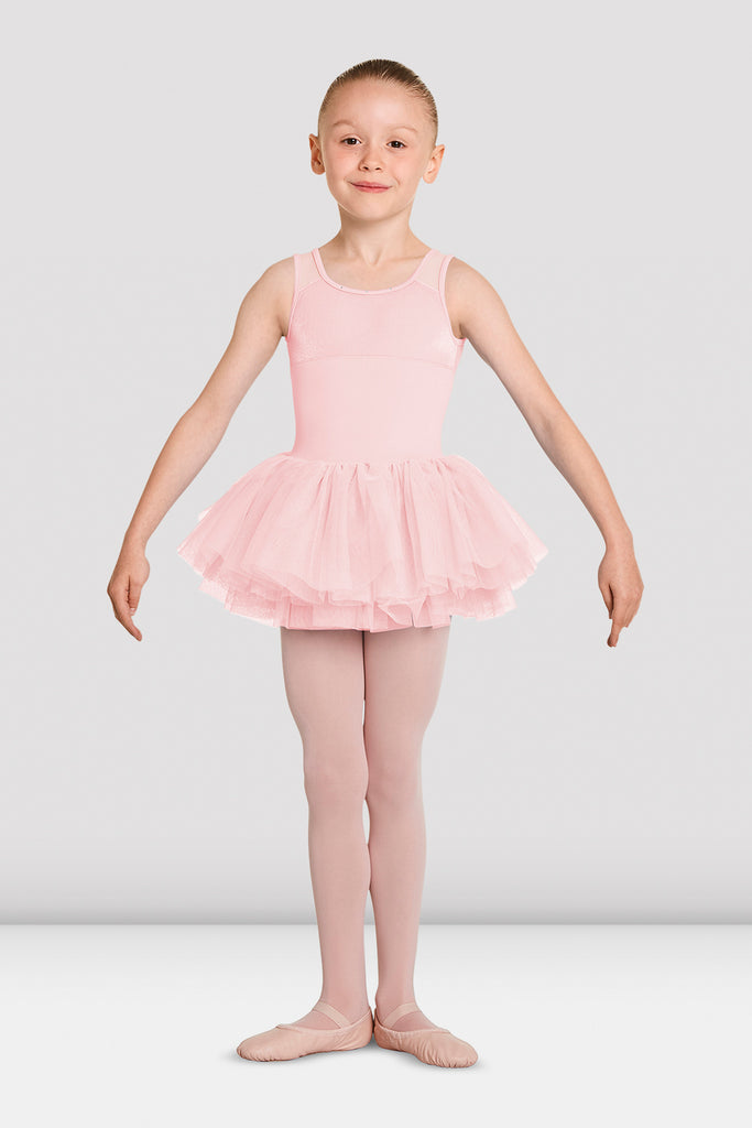 Girls Mirella Velvet Tank Tutu Leotard