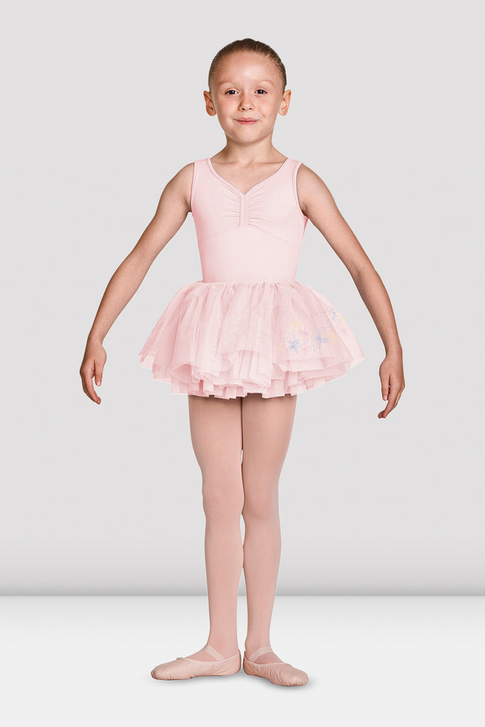 Girls Mirella Soft Gathered Neckline Tank Leotard