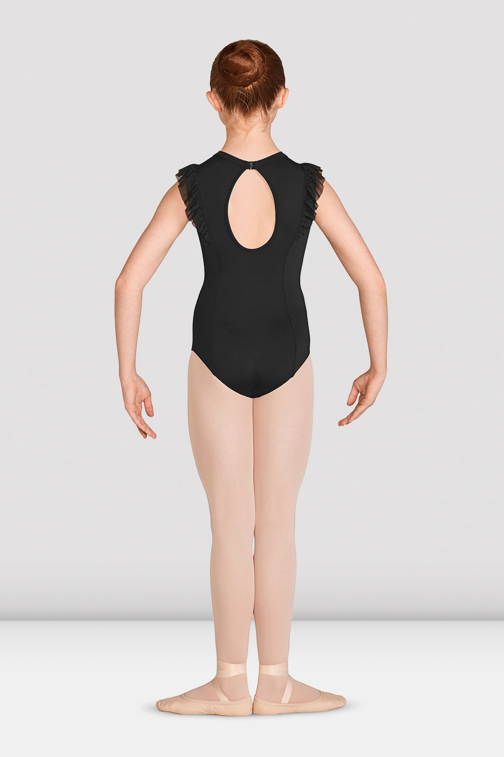 Girls Mirella Vienna High Neck Open Back Leotard
