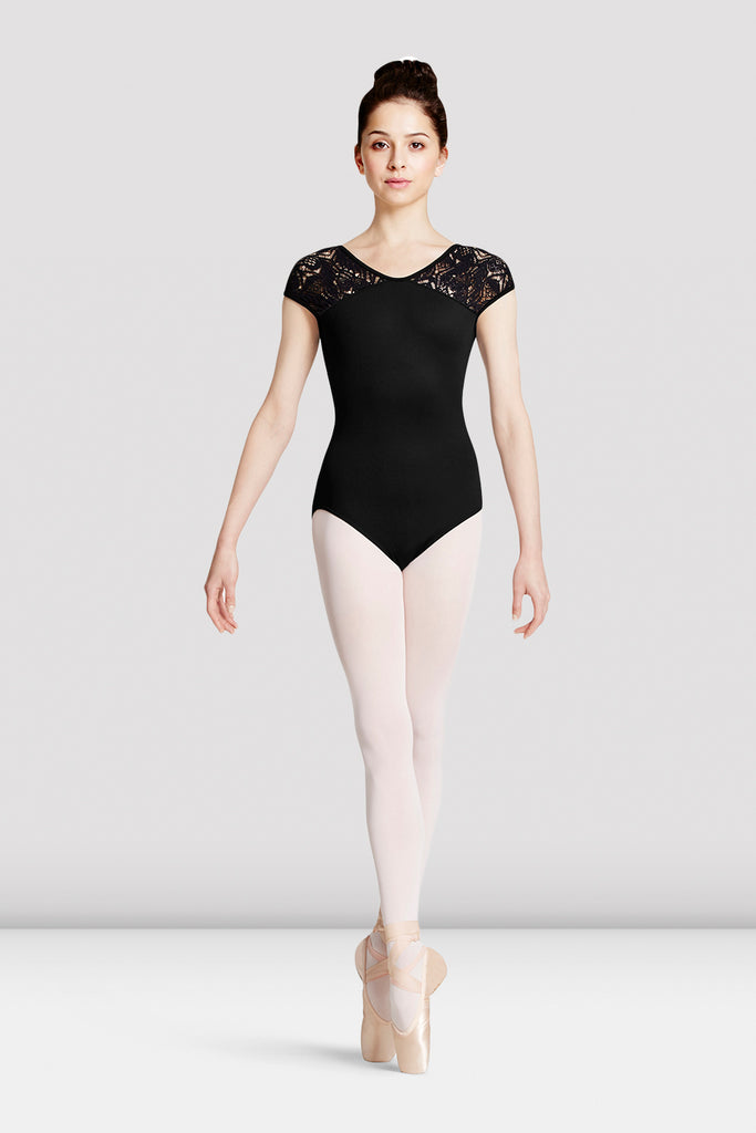 Ladies Mirella Lace Shoulder Leotard