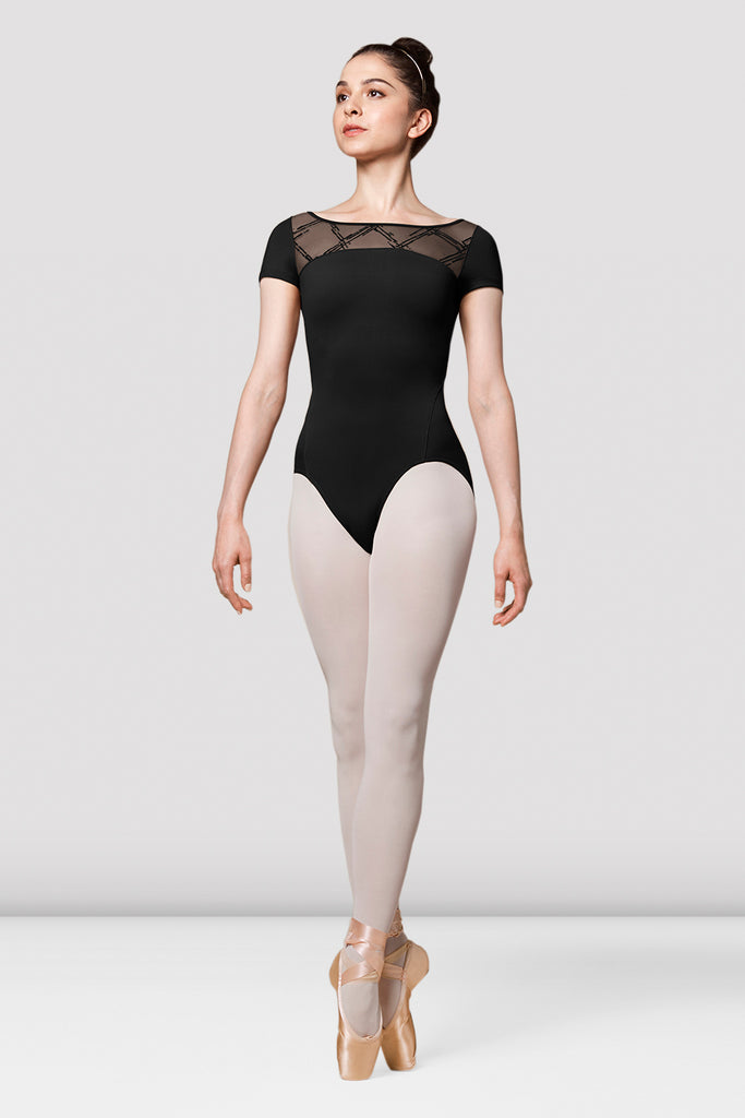 Ladies Mirella Messina Mesh Wrap Back Leotard