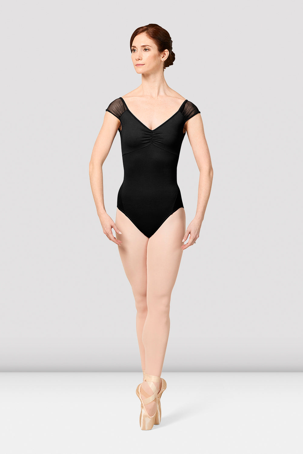 Ladies Mirella Vienna Cap Sleeve V-Neck Leotard