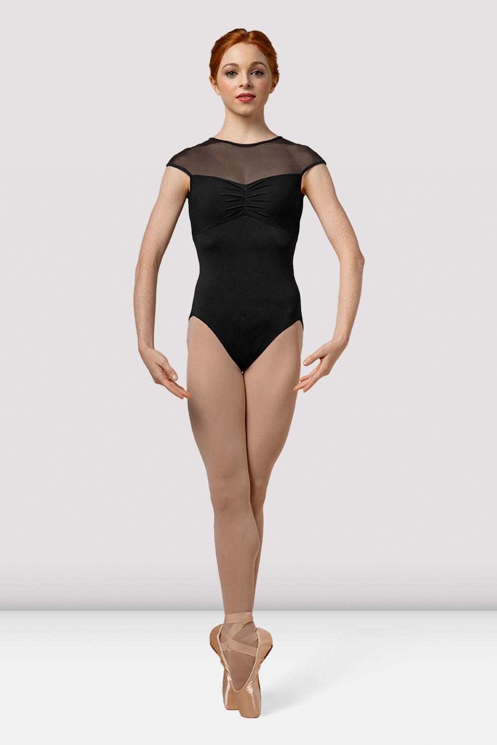 Ladies Mirella Splice Cap Sleeve Leotard