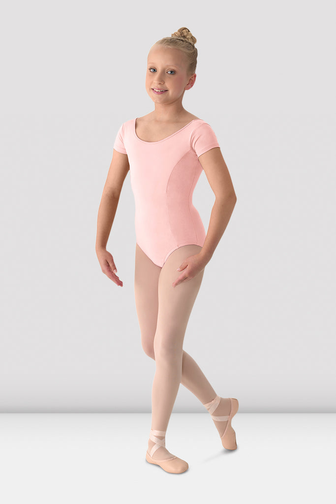 Girls Mirella Classic Short Sleeve Leotard