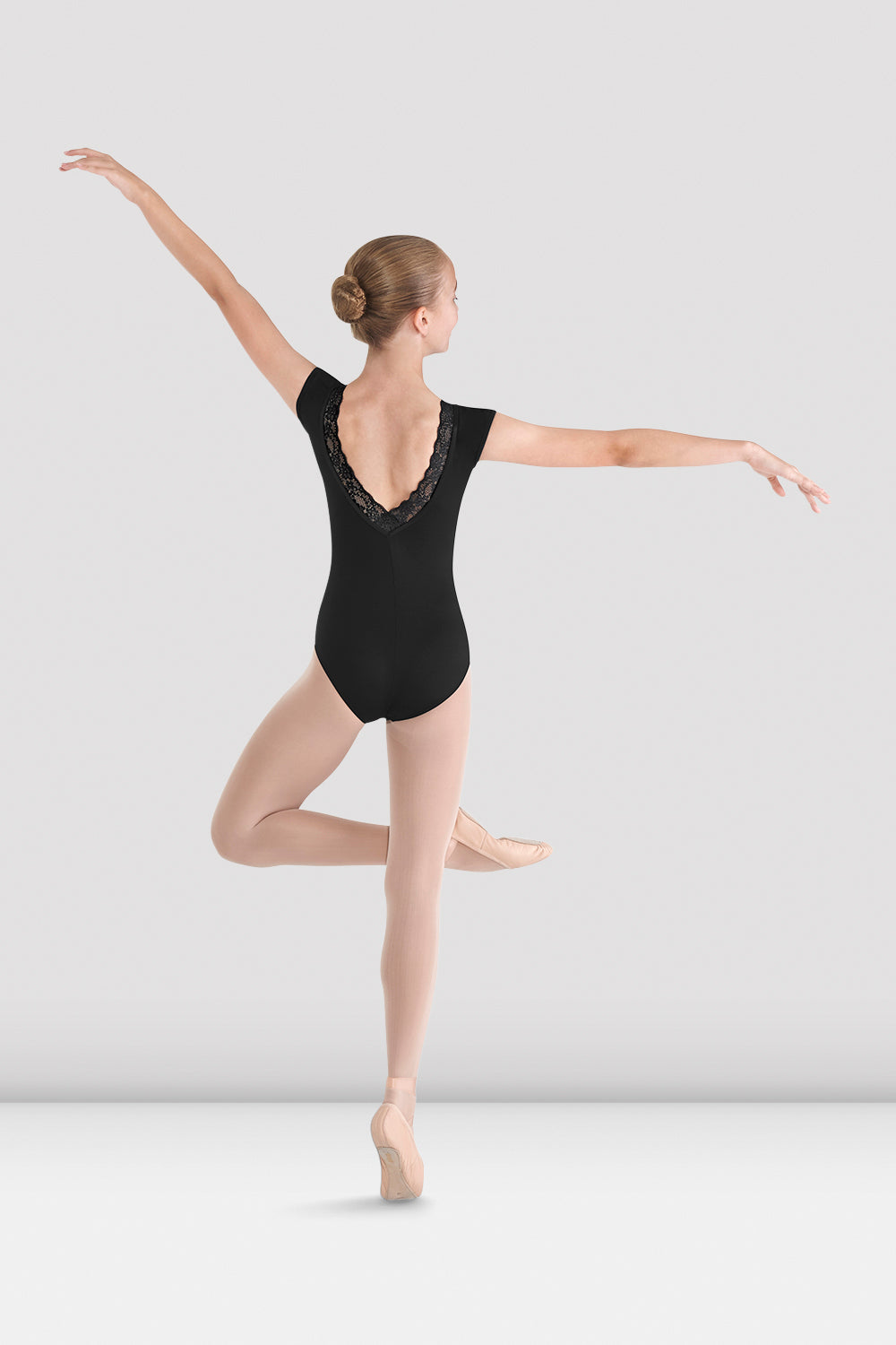Girls Mirella V Back Bow Leotard