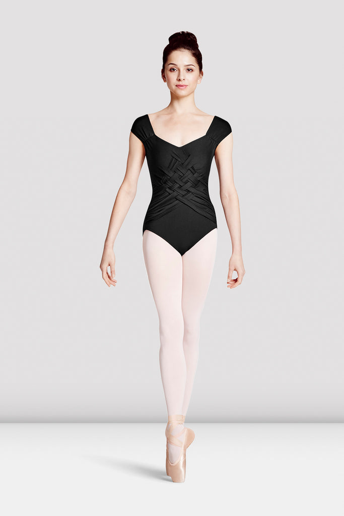 Ladies Mirella Jozette Woven Front Leotard