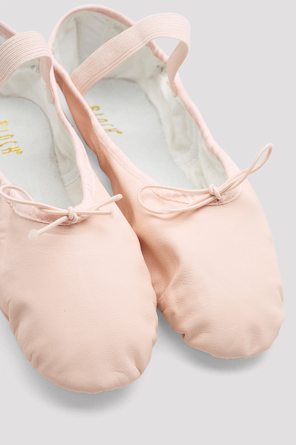 Ladies Dansoft Leather Ballet Shoes