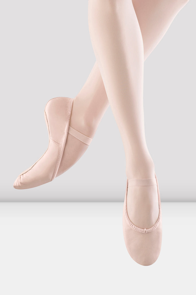 Girls Dansoft Leather Ballet Shoes
