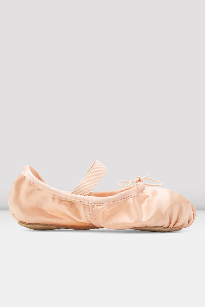 Girls Stretch Satin Ballet Shoes