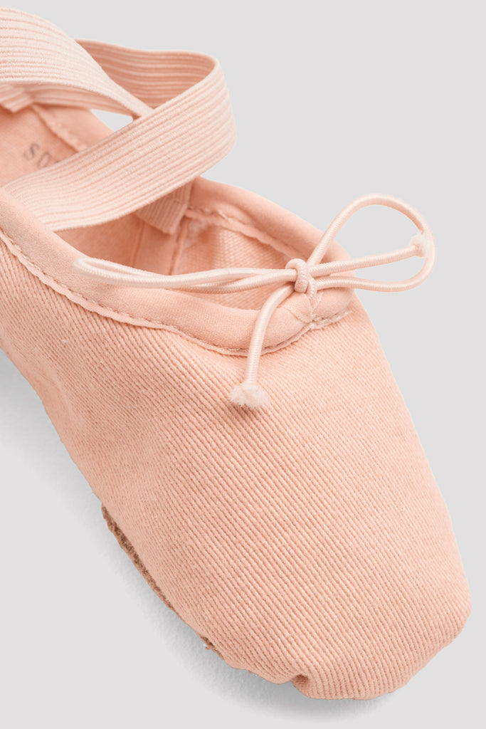 Girls Zenith Stretch Canvas Ballet Shoes