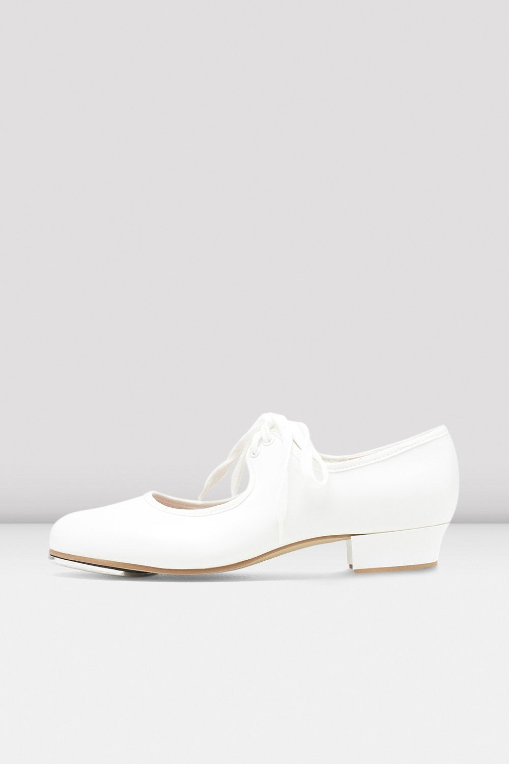 Girls Shirley Tie-Up Tap Shoes, White