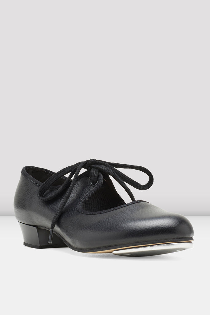Girls Shirley Tie-Up Tap Shoes